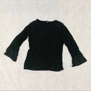 Lucky Brand black long sleeve shirt with detail